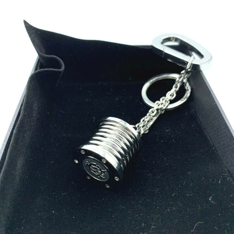 "Dunhill JLK0804 Stainless Steel Suspension Spring 5"" Hanging Keychain Gift"