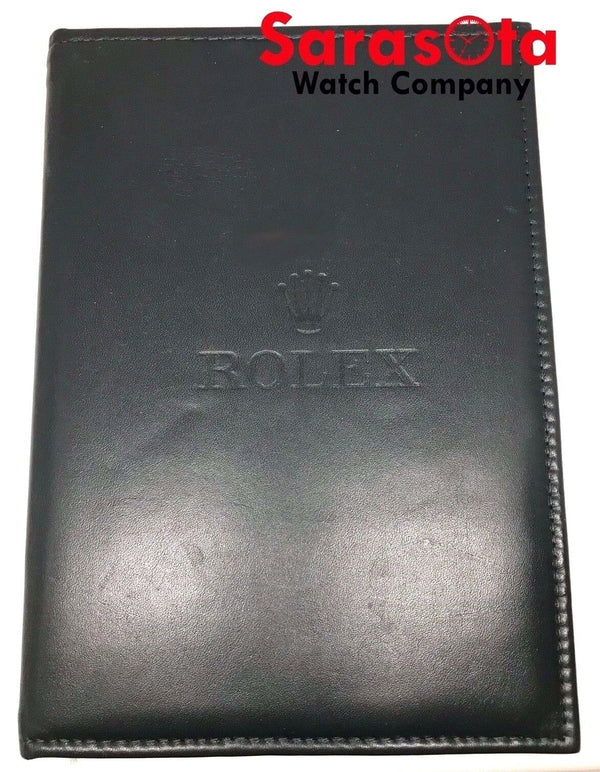 "Vintage Rolex Folding Counter Dark Green Leather Suede Watch Pad 8.25"" x 11.75"""