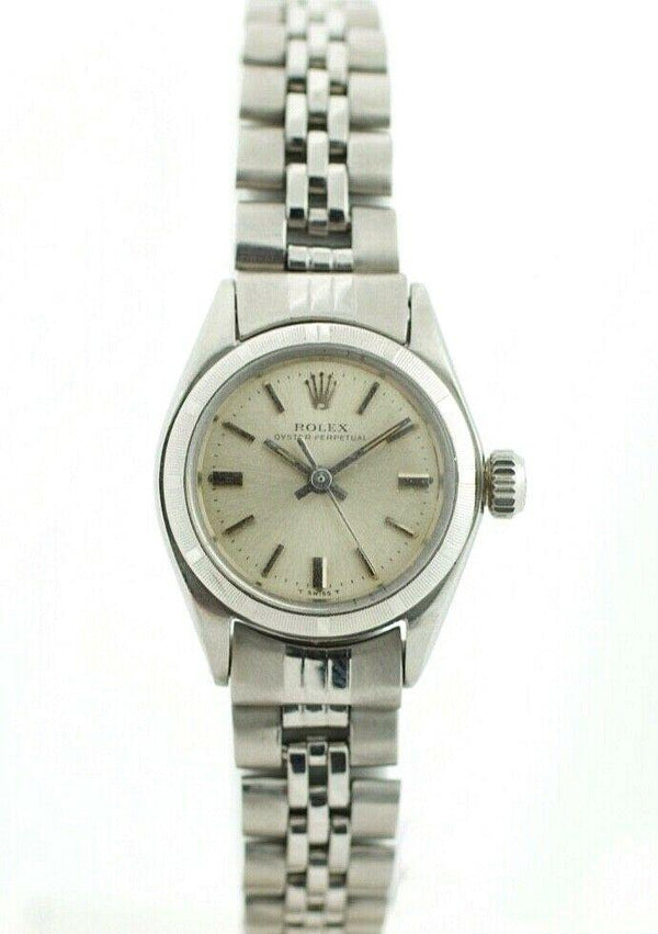 6f3c80921ec ... Rolex Oyster Perpetual 6623 Silver Dial Stainless Steel Automatic  Women's Watch
