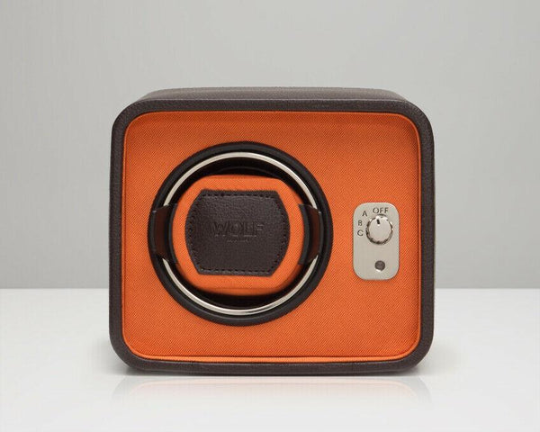 Wolf 452406 Windsor Single Watch Winder Brown Orange