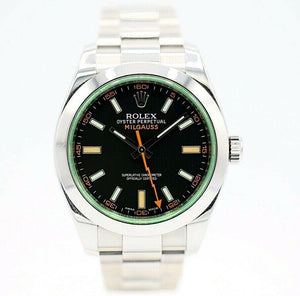 Rolex Milgauss 116400GV Black Green Dial Oyster Stainless Steel 2017 Wrist Watch