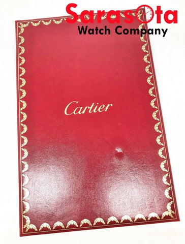 "NOS Cartier 7"" x 10.5"" Jewelry Watches Folding Counter Red Leather Pad"