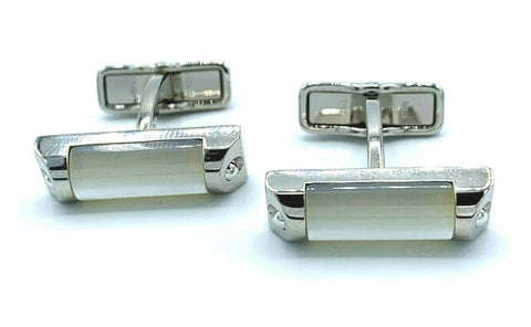 Dunhill JBD3251K Rectangle Mother of Pearl Stainless Steel Men's Cufflink's Gift