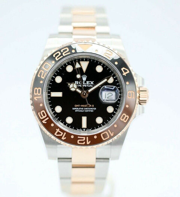 Rolex GMT Master II 126711CHNR Root Beer Rose 18k/Steel 2019 Men's Watch Unworn