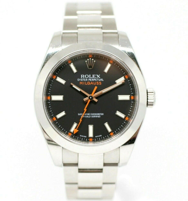 Rolex Milgauss 116400 40mm Black Dial Oyster Stainless Steel 2007 Wrist Watch