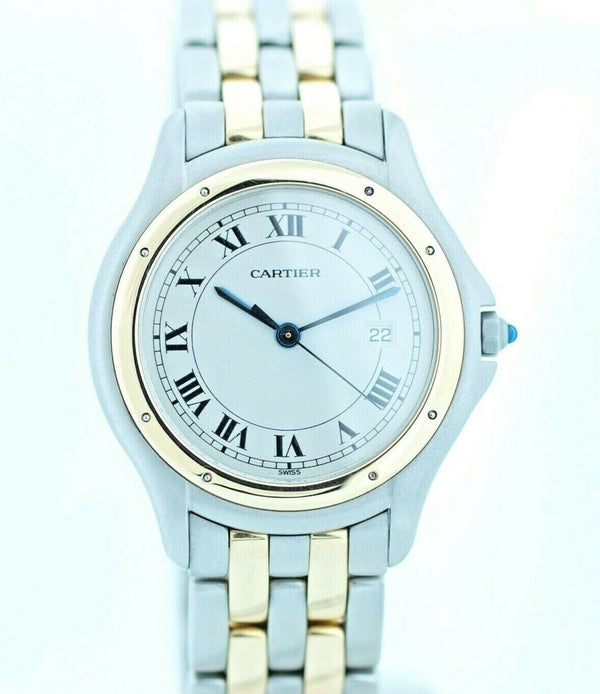Cartier Panthere Cougar 118 000 R Two Tone 18k/Steel Swiss Quartz Wrist Watch