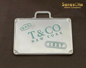 Tiffany&Co. Sterling Silver New York 1837 Travel Luggage Suitcase Tag