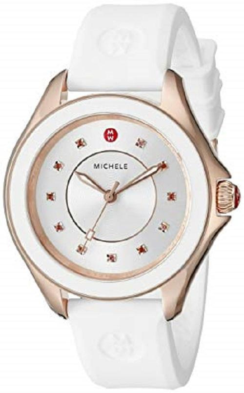 Michele Deco MWW27A000004 Stainless Steel Rose Gold Tone Quartz Women's Watch - Sarasota Watch Company