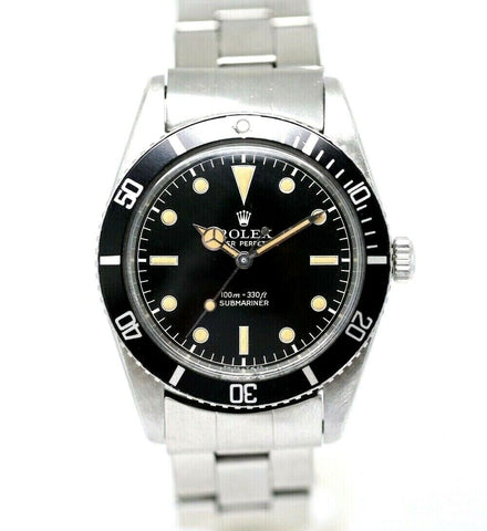 Rare Collectors Rolex Submariner 5508 Steel Black Dial 38mm 1961 Men's Watch w/B/P