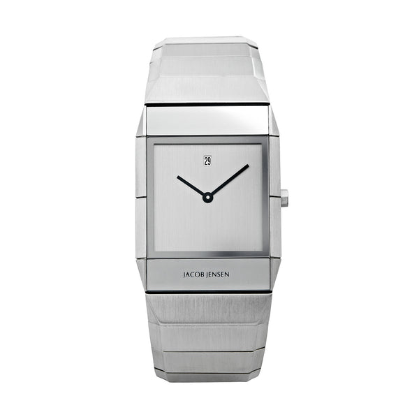 Jacob Jensen Sapphire Series 552 Stainless Steel Rectangle Quartz Men's Watch