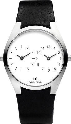 Danish Design IQ22Q890 Stainless Steel Case DUALTIMER Mens Watch By Tirtsah