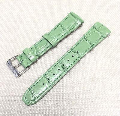 Raymond Weil Crocodile Leather Strap Pink/Green/Black 18 mm w/Original Buckle