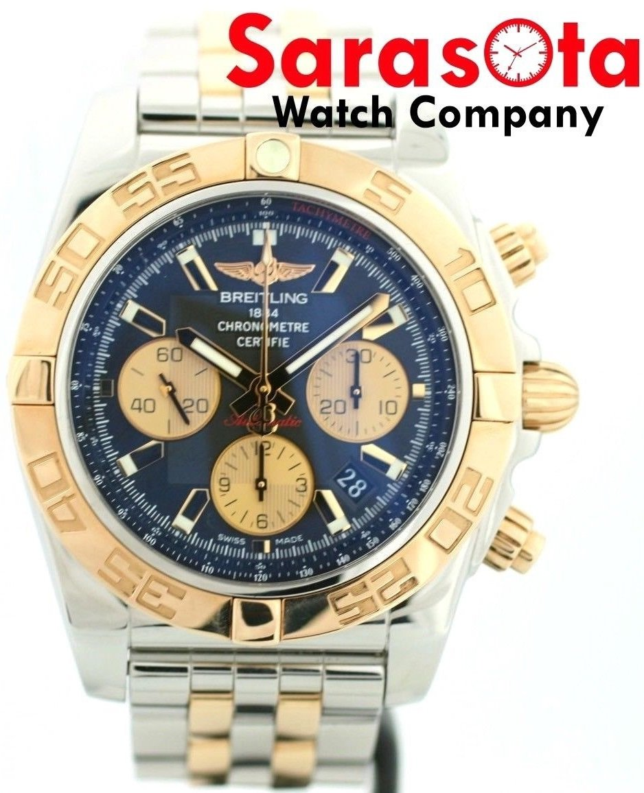 Breitling Chronomat 44 CB0110 Two Tone 18K Rose Gold/Steel Automatic Men's Watch