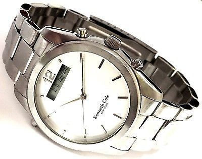 Kenneth Cole KC3196 Stainless Steel Analog/Digital Casual Modern Men's Watch