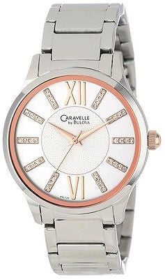 Caravelle By Bulova 45L135 Rose Gold Tone Stainless Steel Quartz Women's Watch