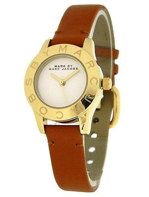 Marc by Marc Jacobs MBM1219 Mini Gold Tone Women's Watch With Leather Strap
