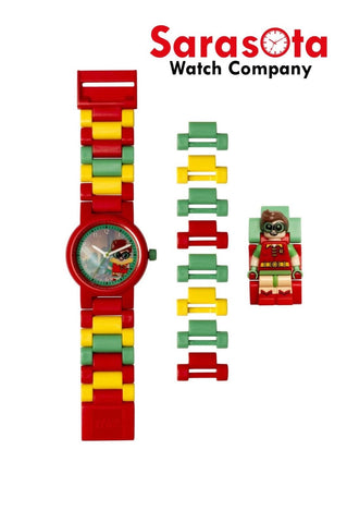 LEGO® 8020868 Batman Movie Robin Minifigure Link Kid's Watch Age 6+ 24PCS