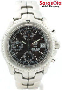 Tag Heuer Link CT5111 Black Dial Chrono Stainless Steel Automatic Men's Watch