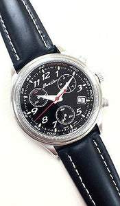 Boxster Chronograph Black Dial Leather Strap Date Analog Sport Men's Watch
