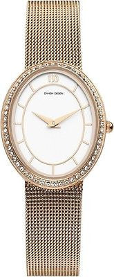 Danish Design IV77Q995 Rose Gold Stainless Steel Cubic Zirconia Women's Watch