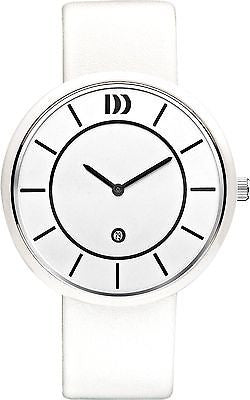 Danish Design IQ12Q1034 White Ceramic Case White Leather Strap Men's Watch