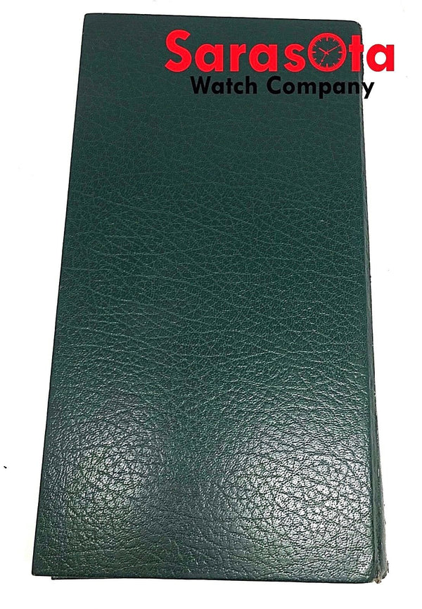 "Vintage Rolex Folding Counter Green Leather Velour Long Watch Pad 6"" x 11.5"""