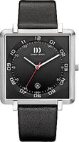 Danish Design IQ13Q1059 Titanium Square Leather White Dial Unusual Unisex Watch
