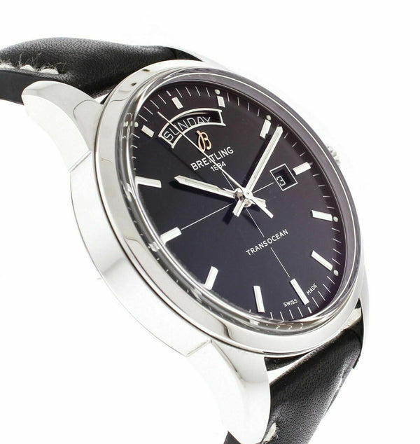 Breitling A45310 Transocean 43mm Automatic Chronometer Black Dial Men's Watch