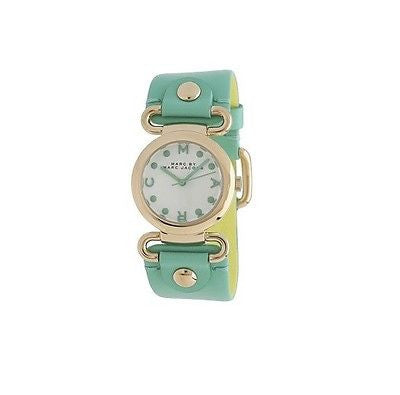 Marc by Marc Jacobs MBM1306 Gold Tone Green Leather Strap Women's Watch