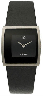 Danish Design IV13Q835 Titanium Case Leather Strap Black Dial Women's Watch