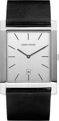 Danish Design IQ12Q922 Stainless Steel Case Leather Strap Date Men's Watch
