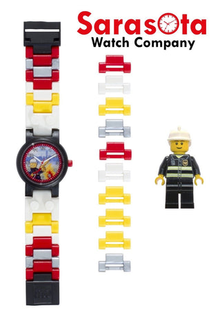 LEGO® 8020011 City Fireman Minifigure Link Kid's Watch Age 6+