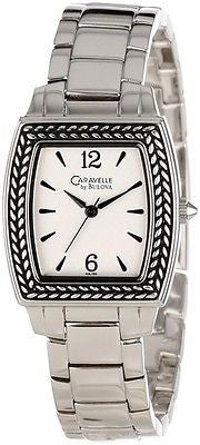 Caravelle by Bulova 43L150 Tonneau Stainless Steel Bracelet Women's Watch