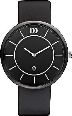 Danish Design IQ13/IQ14/IQ24Q1034 Ceramic Leather Band Men's Watches