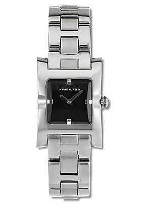Hamilton H20211131 Lorna Stainless Steel Bracelet Black Dial Dress Women's Watch