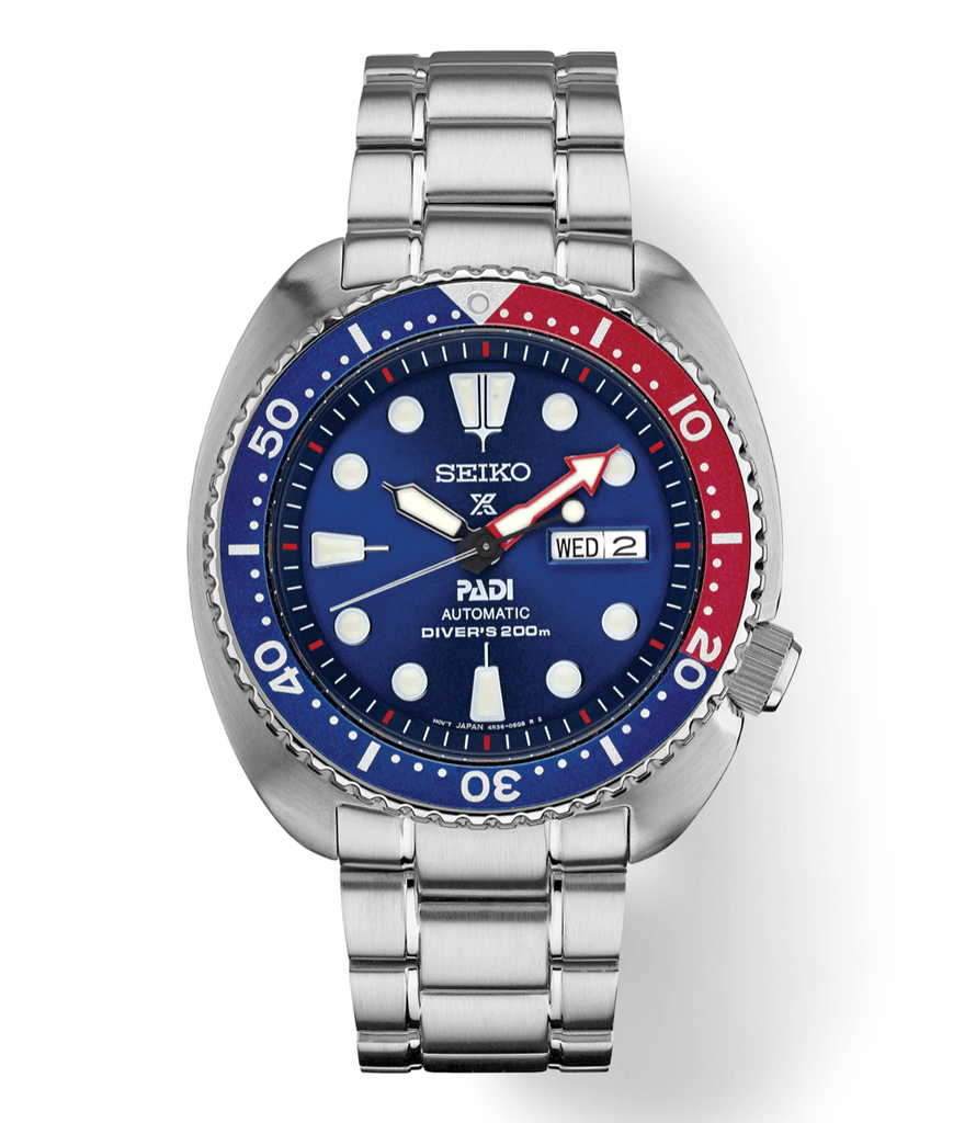Seiko SRPA21 Prospex PADI Stainless Steel Blue Dial Diver Automatic Wrist Watch - Sarasota Watch Company