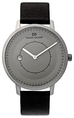 Danish Design IQ13Q832 Titanium Gray Dial Date Designer Dress Men's Watch