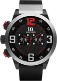 Danish Design IQ12/IQ24Q1021 SS Case Black Chronograph Rubber Band Men's Watch