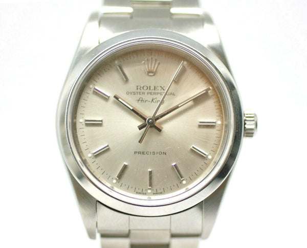Rolex Air-King 14000M Silver Dial Stainless Steel Automatic 2001 Men's Watch