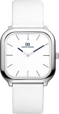 Danish Design IV12/13Q962 Stainless Steel White/Black Dial Leather Unisex Watch