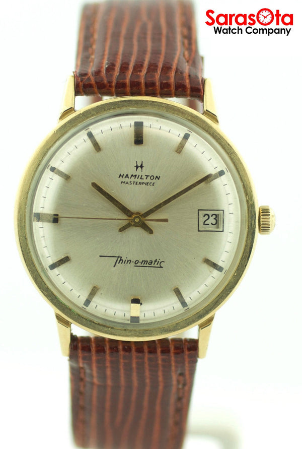 Vintage Hamilton Masterpiece Thin-o-matic 10K Gold Filled Automatic Men's Watch