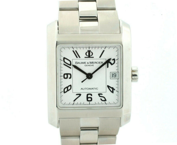 Baume&Mercier 65535 White Dial Stainless Steel Automatic Rectangle Men's Watch
