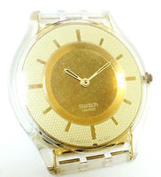 Swatch AG 2001 Champagne Dial  White/Gold Tone Resin Case Men's Watch