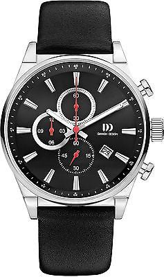 Danish Design IQ13Q1056 Chronograph Titanium Case Leather Band Men's Watch
