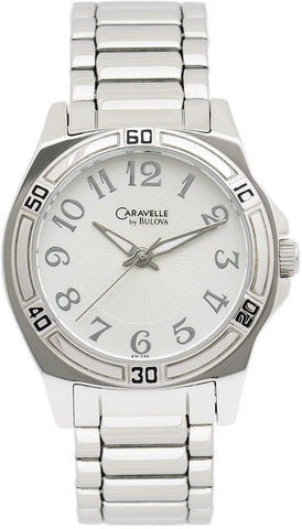 Caravelle by Bulova 43L135 Silver Arabic Dial Steel Quartz Women's Watch