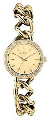 Caravelle New York 44L152 Crystal Bezel Stainless Steel Quartz Women's Watch