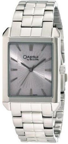 Caravelle by Bulova 43A104 Stainless Steel Date Silver Dial Casual Men's Watch