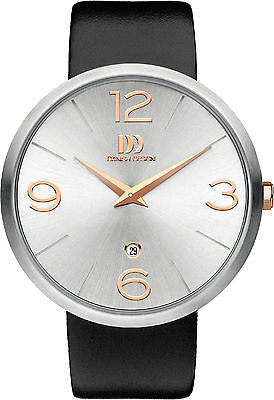 Danish Design 1067 Series Stainless Steel Case Leather Band Men's Watch