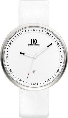 Danish Design IQ12Q1002 White Dial White Leather Band Men's Watch