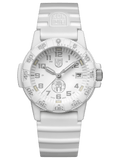 Luminox 0307.WO.SPARTAN 39mm White Dial White Rubber Band Mens Watch - Sarasota Watch Company